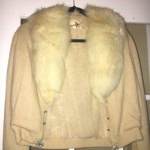 Vintage Bespoke glam sweater rhinestones